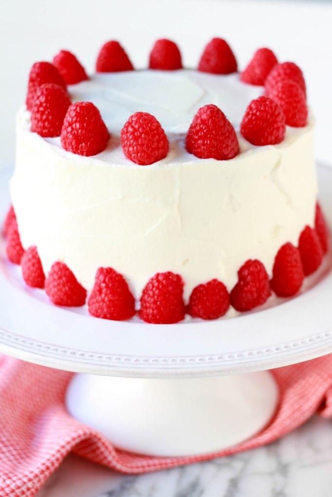 almond raspberry cake 2