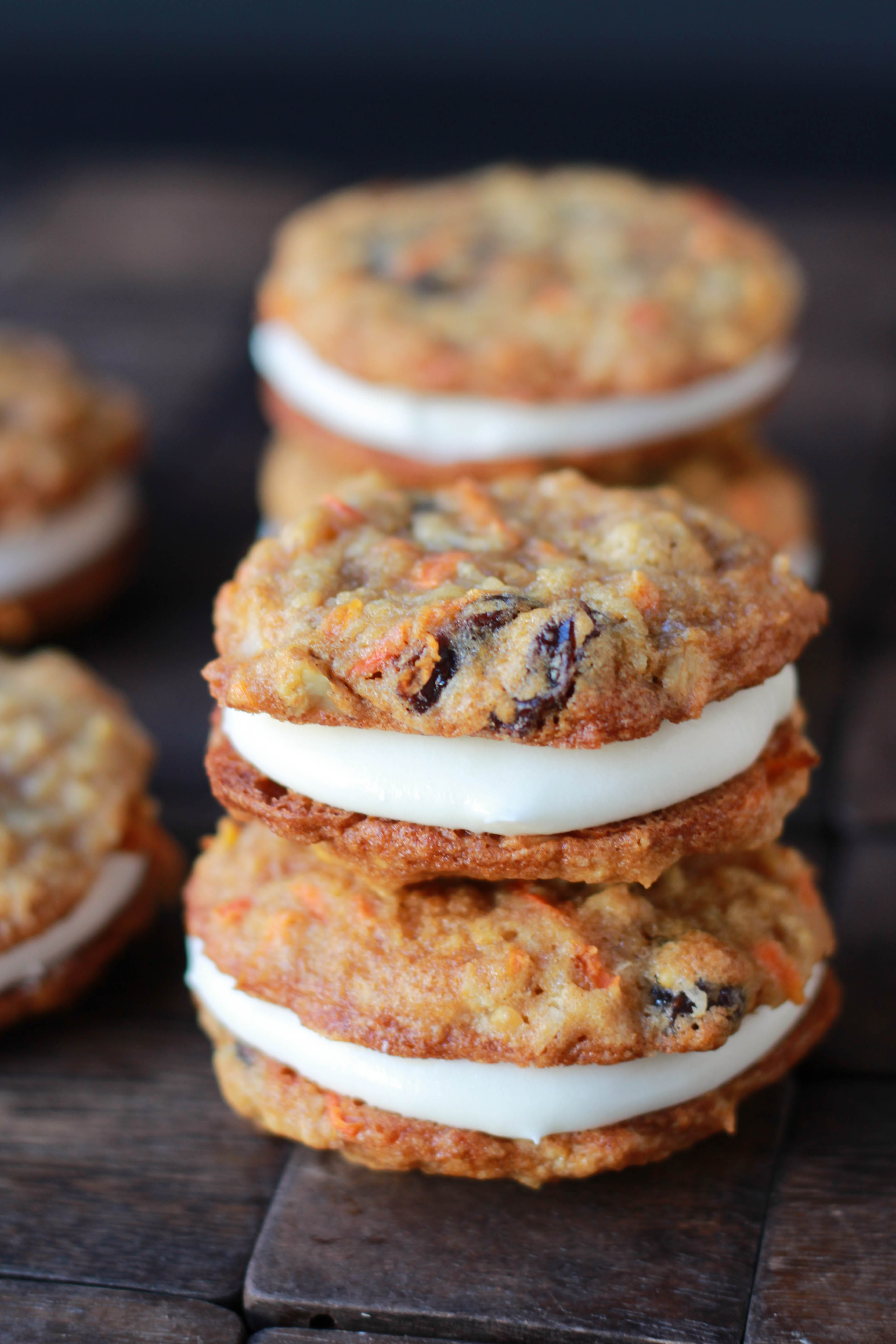 Carrot Cake Sandwich Cookies | Celebrating Sweets